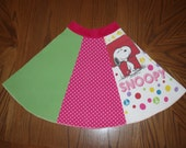 Womens XS Small or Girls 14 16 Repurposed Snoopy Skirt