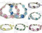 Flower Bracelet, Swarovski Crystal Bracelet by CandyBead