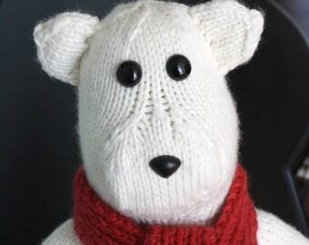 Polar Bear - PDF Knit Pattern - Instant Download