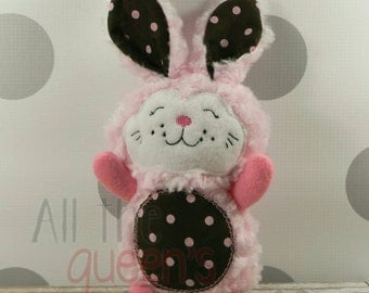 Easter Bunny Stuffed Toy, Bunny Rabbit Easter Softie, Plush 10-inch Stuffed Bunny for Easter Basket