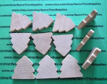 """CO3125WW12 - Standard Tree - 1 1/2"""" wide x 1 1/2"""" tall x 1/4"""" thick -  unfinished wood - 12 pcs"""