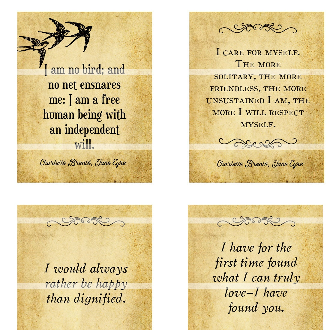 Quotes Jane Eyre Jane Eyre Quotes For Planner Digital Collage Sheet 1.5In X 1.9In