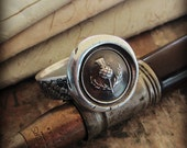 Scottish Thistle Wax Seal Ring - Scottish Jewelry - Outlander Jewelry - Scottish Thistle Ring in your choice of ring bands