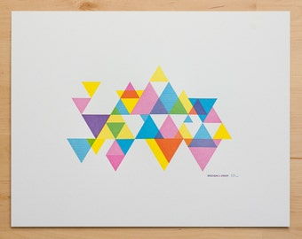 CMY Hey! Process Color Triangle Print