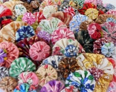 100 Fabric Flowers Fabric Appliques Wedding Flowers Birthday Party Rosette Yo Pinwheel Scrapbook Embellishments