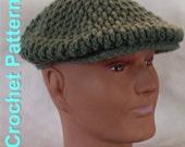 Crochet Pattern - Men's Flat Cap