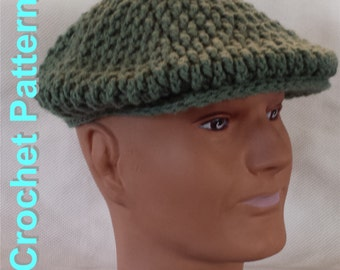 Crochet Pattern - Men's Flat Cap