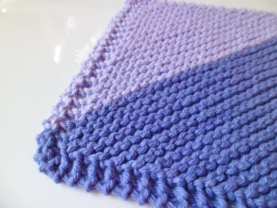 Lavender Fields Cotton Dishcloth