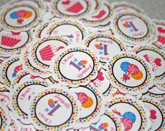 SWEET SHOPPE Table Confetti / sweet shoppe Confetti / sweet shoppe Table Minis / sweet shop Confetti / sweet shoppe party circles