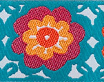 CLEARANCE Lacy Flowers in Turquoise