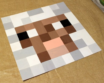 Minecraft Sheep Original Painting 12x12