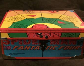 1977 Spiderman and The Fantastic Four Game Board Box