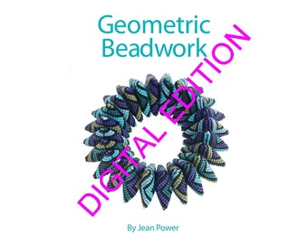 Beading pattern/ beading tutorial digital e-book for seed beadweaving - Geometric Beadwork