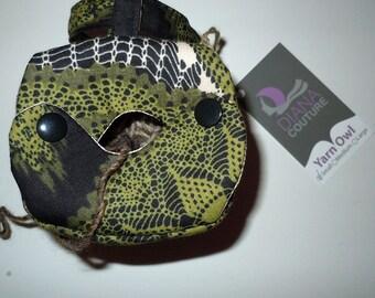 Fancy Yarn Owl Yarn Holder, small size