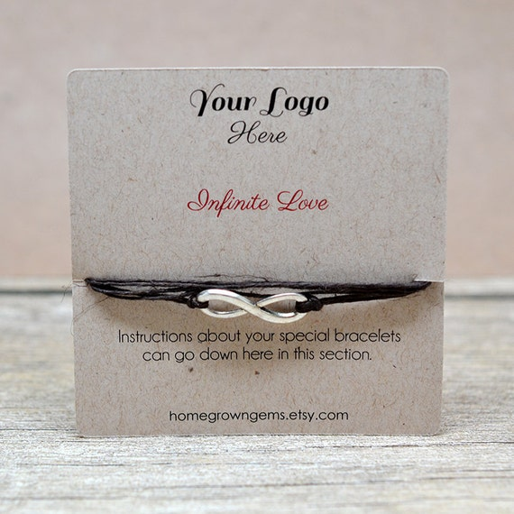 Custom Bracelet Display Cards Wish Bracelets By Homegrowngems