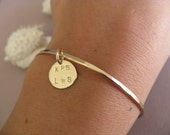 RESERVED for Nikki - Gold Bangle Set with Charms
