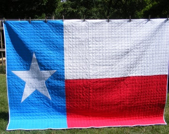 Texas Flag Quilt - Twin Extra Long