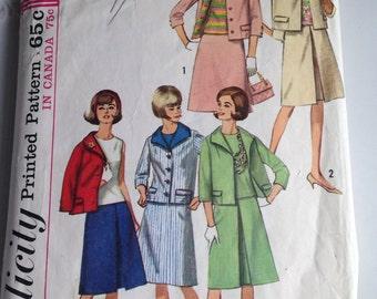 Simplicity Pattern, Vintage Pattern, Pattern 5880, Plus Size, Vintage Women's Suit Pattern, Misses a Size 20, Bust 40, Etsy, Etsy Vintage
