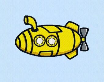 Submarine - Machine Embroidery Design File