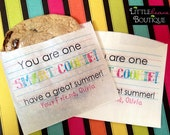 Personalized Cookie bags, Schools out, Smart Cookie Favor,  Schools Out for summer, Summer,  Favor bags, Sweets, Treat bags, 12 bags or more