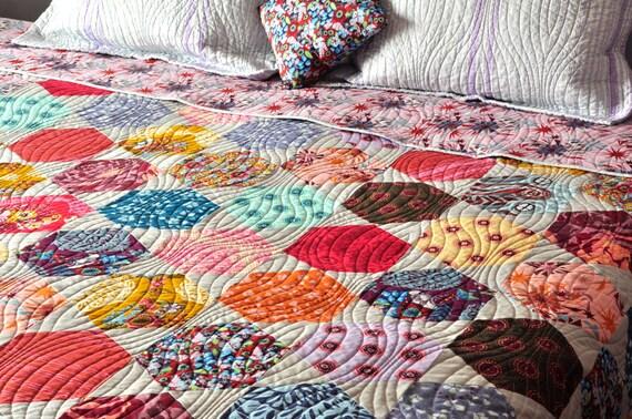 moderne patchwork hexagone custom couette couvre lit lit. Black Bedroom Furniture Sets. Home Design Ideas