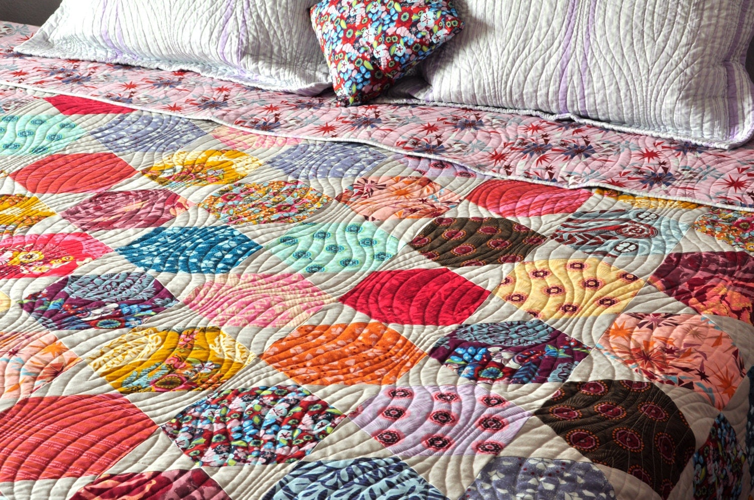 Patchwork bed sheets patterns -  Zoom