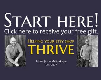 Start Here - FREE Etsy Tips, Jason Malinak Etsypreneurship Selling on Etsy How to Sell on Etsy Starting an Etsy Shop Setting Up an Etsy Shop