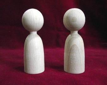 2 Finger Puppets: Unfinished Hardwood