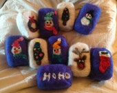 Holiday Felted Goat Milk Soap Bars