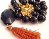 Dorje Dharma Anthology Black Onyx Tassel Necklace