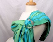 Ring Sling Baby Carrier Wrap Conversion - WCRS - Twill Weave Pleated Shoulder - Regular and XL length - DVD included