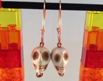 Dem Bones Copper Hoops Pete & Marco