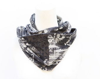 Gray Tribal Infinity Scarf