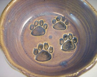 Puppy Food Dish/Puppy Paw Prints Bowl/ Puppy Bowl