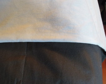 Ready-Made Queen Linen Cotton Simple Duvet Cover, Gray and White