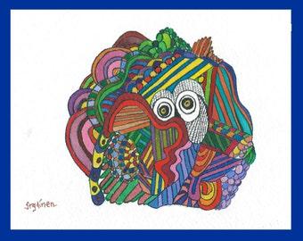 Bird, Bird Art, owl, owl abstract, Bird Art Abstract, Find the Owl, Finding the Owl Abstract, abstract, hiding owl