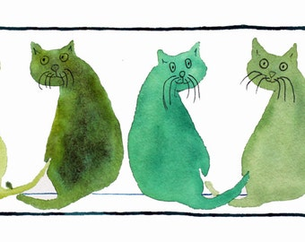 7 WHO ME? Cats PRINT