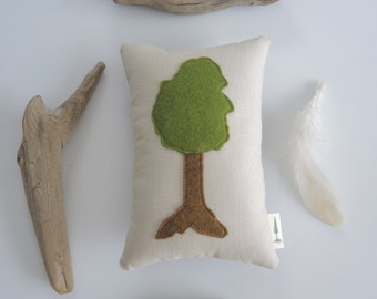 tree pincushion tree lover sewing accessory wool felt treehugger oak tree mini pillow nature lover gift