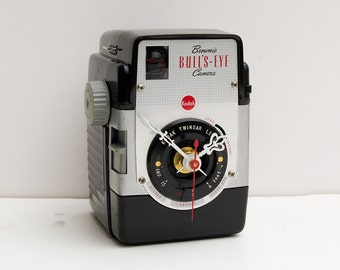 Recycled Kodak Brownie Bullseye Camera Clock