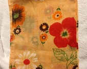 Light Orange Floral Curtain