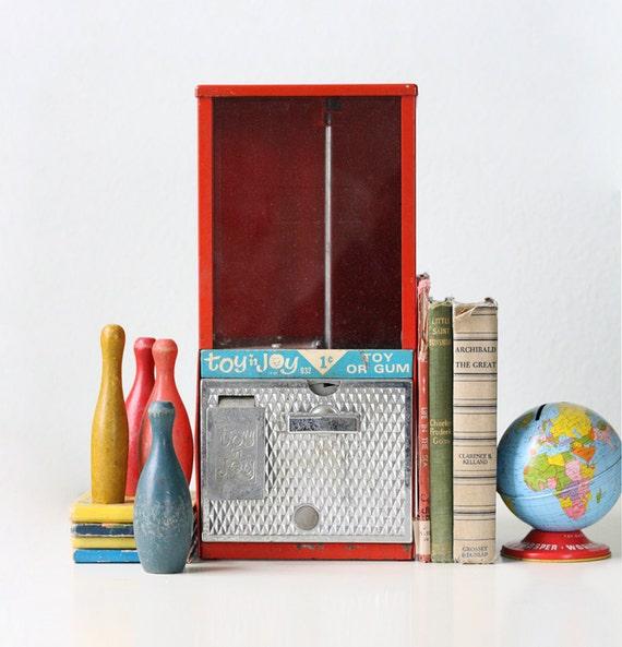 Toy N Joy Machine : Vintage red toy n joy machine