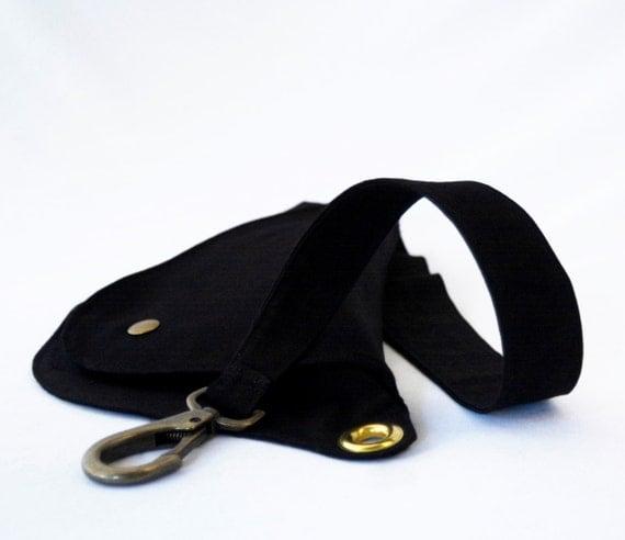 Fanny Pack, Hip Bag, Belt Bag, Black Fanny Pack, Festival Bag, Bum Bag, Adjustable Strap, Hands Free, Cotton Bag, Brooklyn, Zipper Pouch