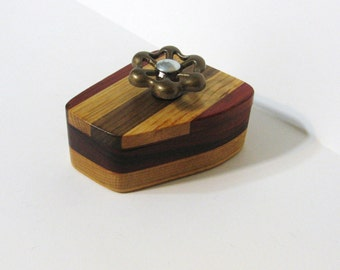 Steampunk Trinket Box Made From Four Woods