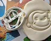 Curious George Face1 Cookie Cutter / Made From Biodegradable Material / Brand New / Party Favor / Kids Birthday / Baby Shower / Cupcake Gift