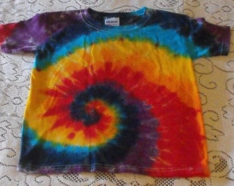 Tie Dye Rainbow Youth T-Shirt in Rainbow Swirl
