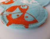 Mini Cloth Pantyliner / Pantiliner  WITH PUL-- Kiki Pad Inspired