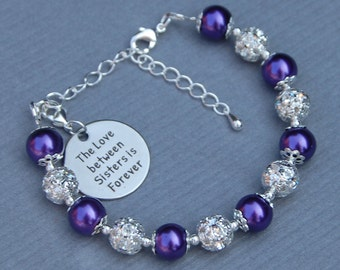 Sisters Gift, Sisters Jewelry, Sisters Bracelet, Gift for Sister, Sibling Jewelry, The Love Between Sisters is Forever