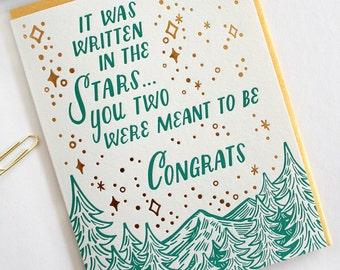 Written in the Stars Letterpress and Foil Card