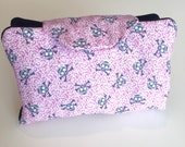 Essential oil case holds 8 oil pouch Girly skulls fabric