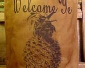 Primitive Luminary Feedsack Bag Welcome Pineapple